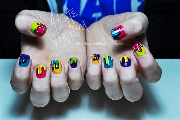 Graffiti Paint Drip Nail Art Gallery