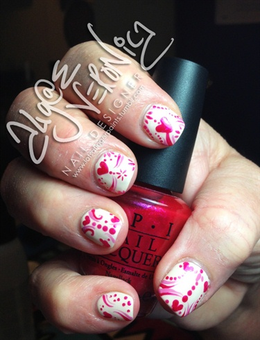 Lovely Abstract nails