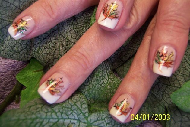 Beautiful Nail Arts » Fall Leaves Nail Art - Inspiring Pictures of ...