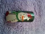 glitter snowman hat