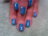 glitter blue beauty