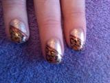 gold foil leopard