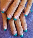 teal lined silver french