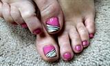 pink zebra toes