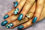 daisy in blue fields