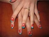 Flowery nail art