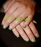 green glitter zebra