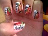 Nail foils and zebra print