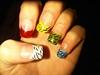 Multicoloured tips