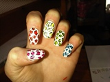 Multicoloured leopard prints