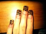 Gold tiger prints