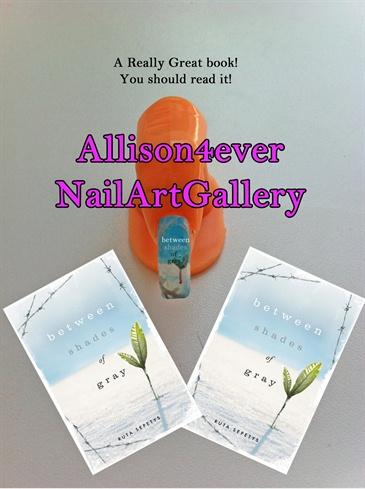 Day 24 Nail Art Challenge: Ruta Sepetys