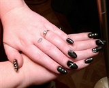 black matte with bling