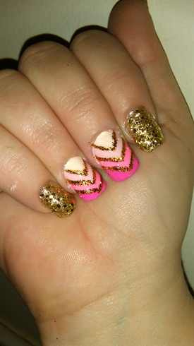GOLD WITH PINKS