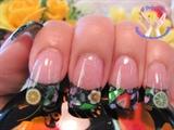 Black Glitter with seashell
