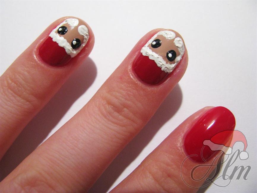 Santa nail art design | Santa nails, Santa nail art, Nail