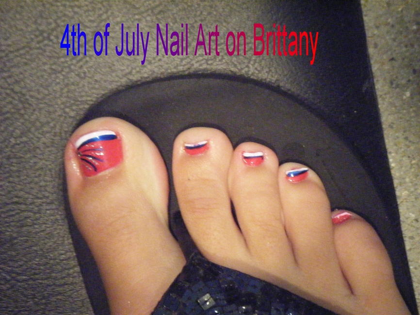 4th Of July Toe Art Nail Art Gallery