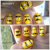 Moustache Nails by Alpsnailart