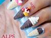 3D ice cream nail art by Alpsnailart
