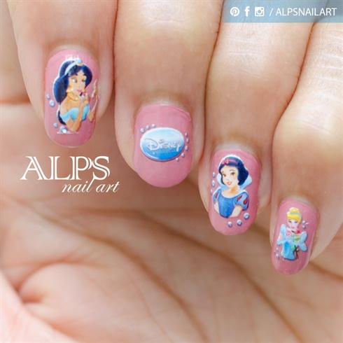 Disney Princess Nail art by Alpsnailart