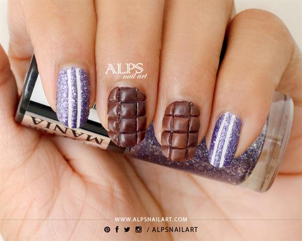 Dairy Milk Chocolate Nail Art