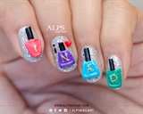 INAD nail art by Alpsnailart