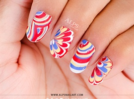 No Mess Easy Water Marble @alpsnailart