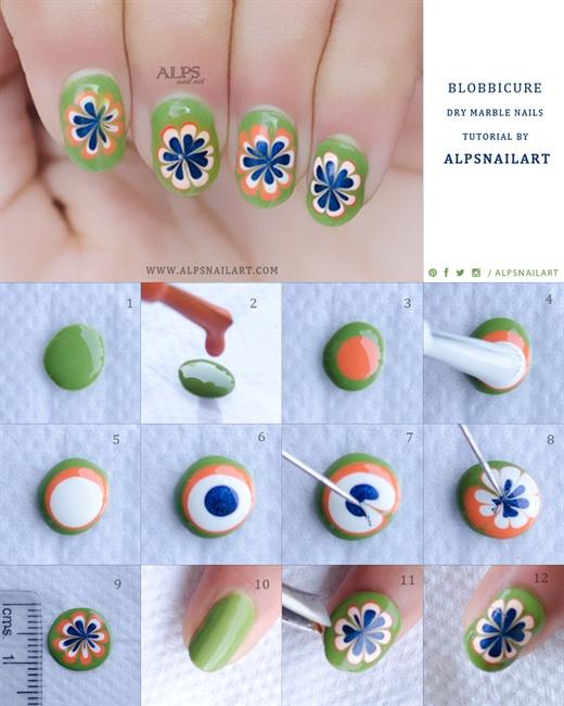 Blobbicure Dry Marble Nails @alpsnailart - Nail Art ...