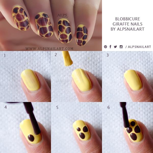 How Long To Let Nail Polish Dry Before Top Coat: Blobbicure Nails Tutorial @alpsnailart