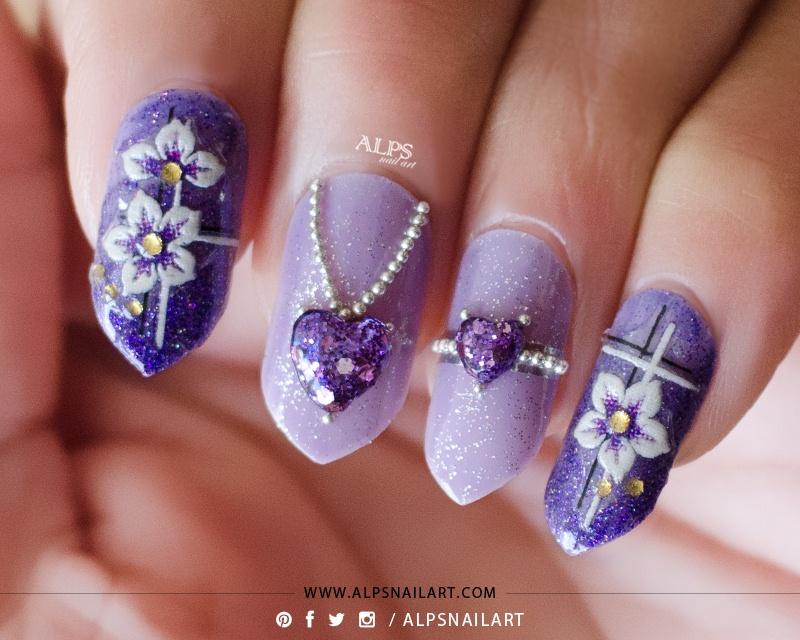 3D Jewelry Valentines Nails @alpsnailart - Nail Art Gallery