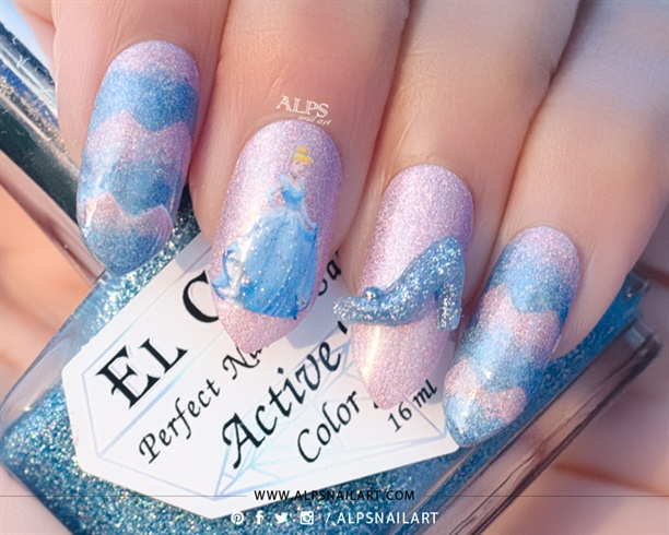 3D Cinderella Nails @alpsnailart