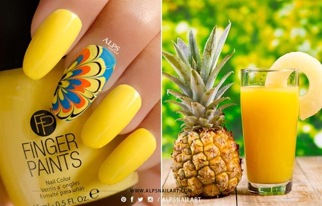 Finger paints nail color @alpsnailart