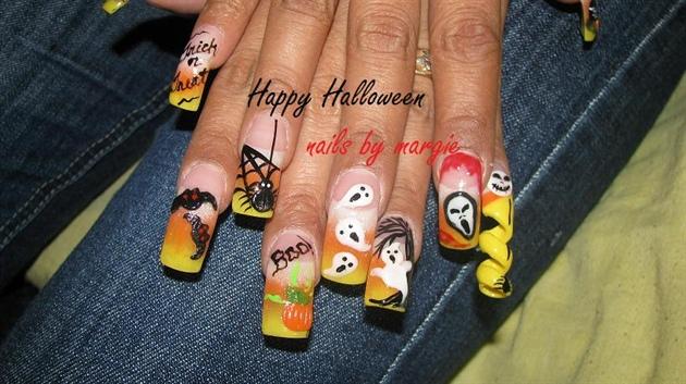 3d Halloween Nail Art Gallery