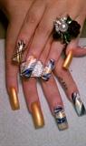 gold & navy
