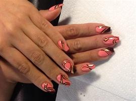nail art: Square stilettos