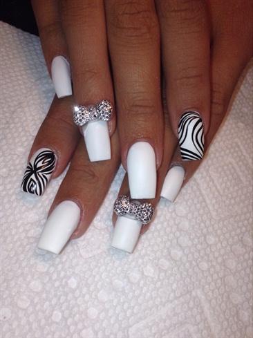 square stilettos  nail art gallery