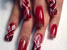 nail art: Classic Red