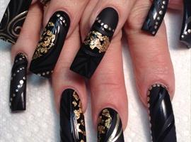 Black Matte Gold Foils