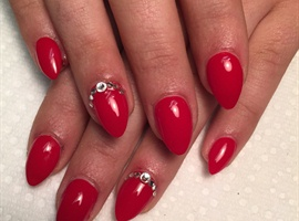 nail art: Baby Almond & Gems