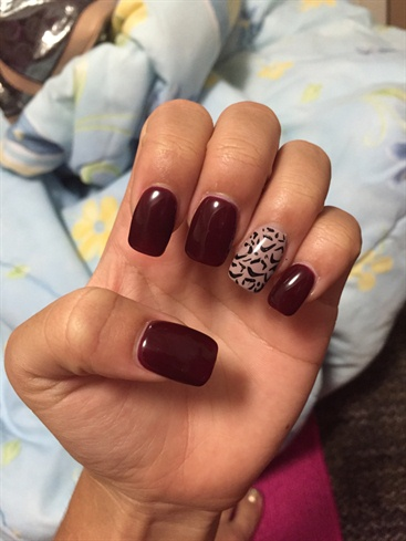 Maroon and nude cheetah nail art gallery maroon and nude cheetah prinsesfo Images
