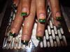 Прочее - Виды дизайна ногтей - зеленый френч.