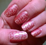 Sparkly pink swirls