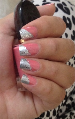 Half Pink Half Silver