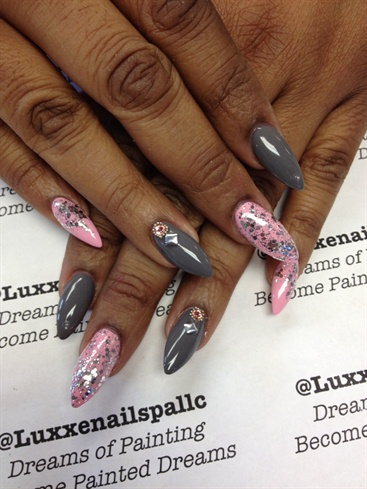 Grey & Pink Sparkle
