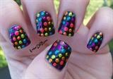 Metallic Polka Dots