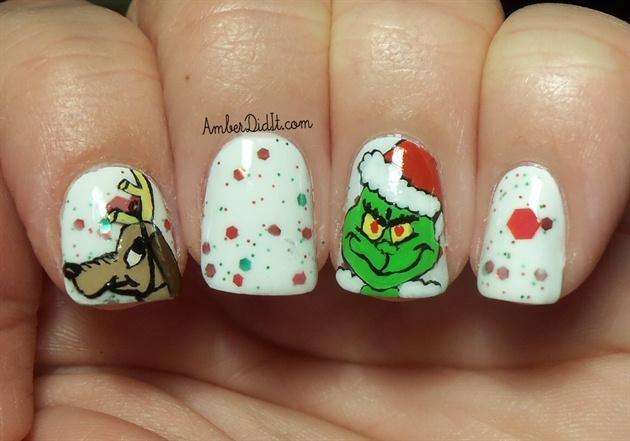 Grinch Nail Art Nail Art Gallery