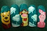 Winnie The Pooh Nail Art