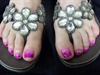 Pink and purple Gradient Pedicure
