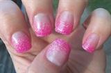 Glitter Gradient Sculptured Nails