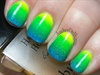Blue, Green, Yellow Neon Ombre